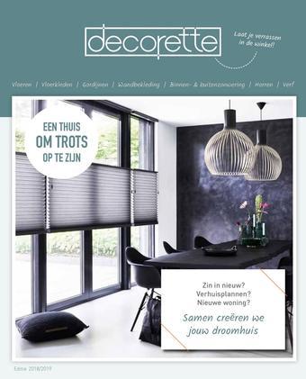 Decorette reclame folder (geldig t/m 30-06)