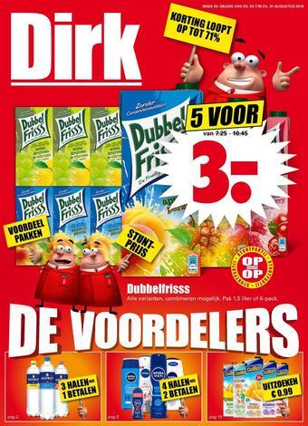 Dirk reclame folder (geldig t/m 31-08)