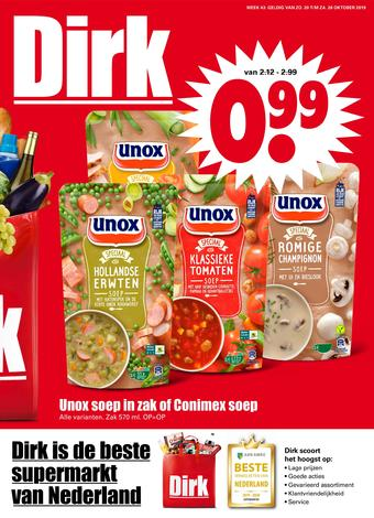 Dirk reclame folder (geldig t/m 26-10)