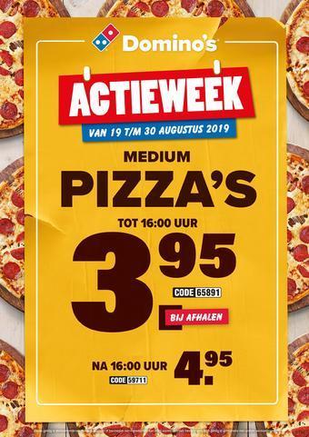 Domino´s pizza reclame folder (geldig t/m 31-10)