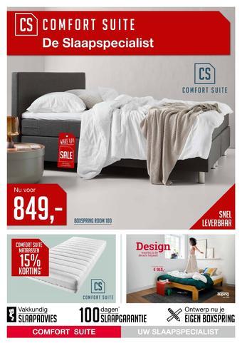Comfort Suite reclame folder (geldig t/m 03-11)