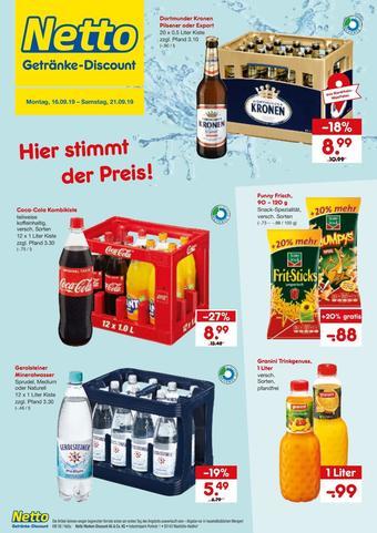 Netto Getränke Discount Prospekt (bis einschl. 21-09)