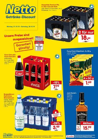 Netto Getränke Discount Prospekt (bis einschl. 26-10)