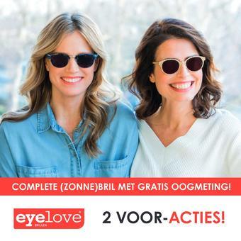 Eyelove brillen reclame folder (geldig t/m 07-07)