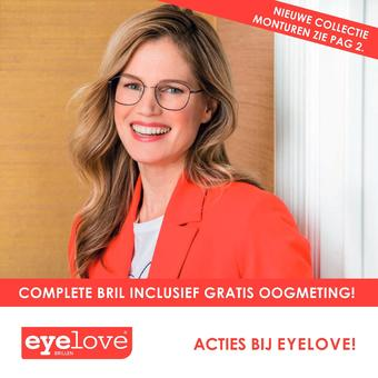 Eyelove brillen reclame folder (geldig t/m 07-09)