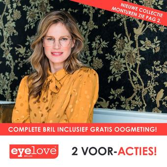 Eyelove brillen reclame folder (geldig t/m 27-10)