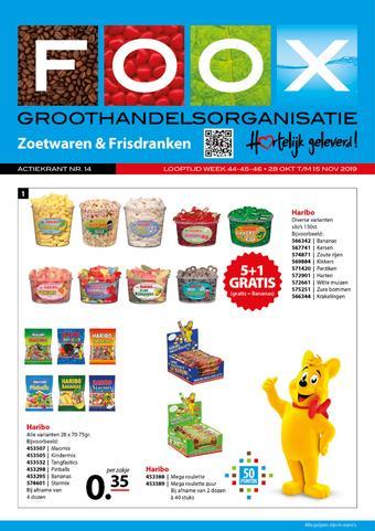 FOOX reclame folder (geldig t/m 15-11)