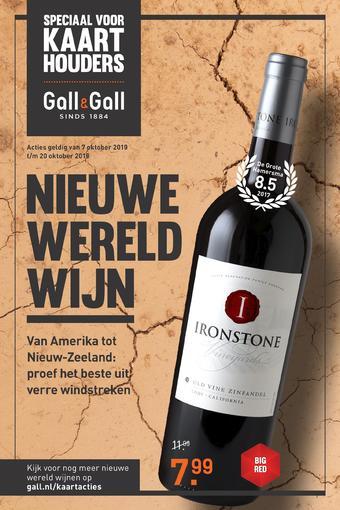 Gall & Gall reclame folder (geldig t/m 20-10)