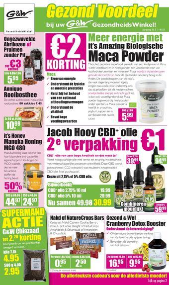 Gezond & Wel reclame folder (geldig t/m 26-05)