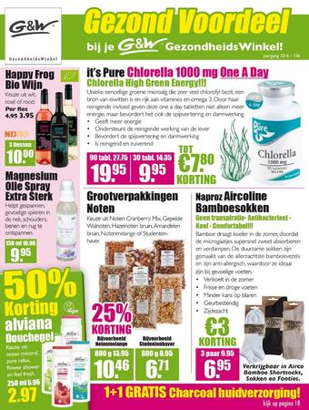 Gezond & Wel reclame folder (geldig t/m 16-06)