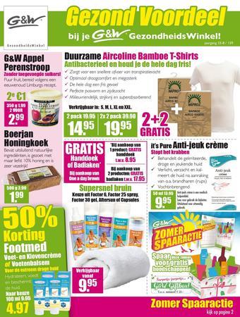 Gezond & Wel reclame folder (geldig t/m 01-09)