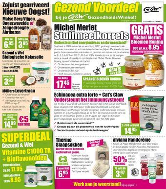 Gezond & Wel reclame folder (geldig t/m 14-11)