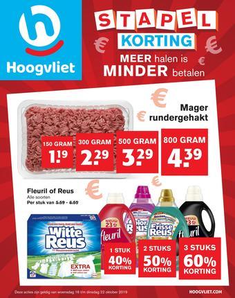 Hoogvliet reclame folder (geldig t/m 22-10)