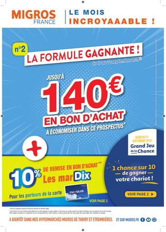 Migros catalogue publicitaire (valable jusqu'au 22-09)