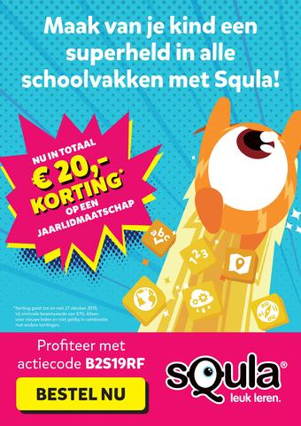 Squla reclame folder (geldig t/m 27-10)