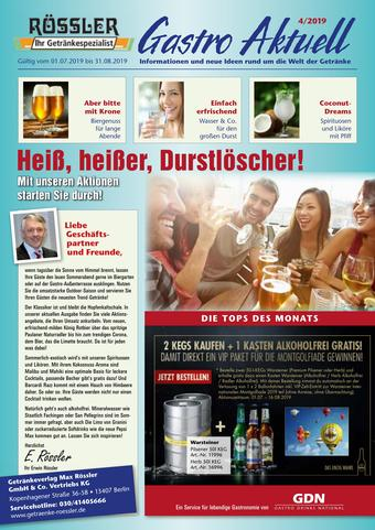 Getränke Rössler Prospekt (bis einschl. 31-08)