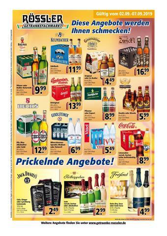 Getränke Rössler Prospekt (bis einschl. 31-10)