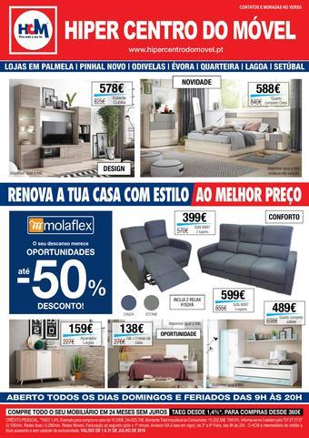 Hiper Centro do Móvel folheto promocional (válido de 10 ate 17 31-07)