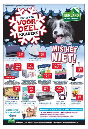 Eemland Diervoeders reclame folder (geldig t/m 30-11)