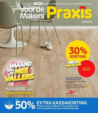 Praxis City reclame folder (geldig t/m 29-09)