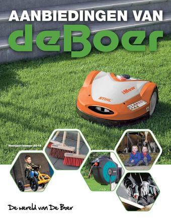 De Boer Drachten reclame folder (geldig t/m 30-09)