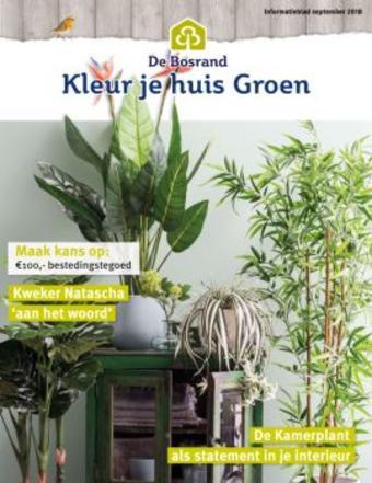 Tuincentrum de Bosrand reclame folder (geldig t/m 30-06)