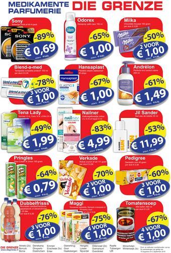 Die Grenze reclame folder (geldig t/m 02-09)