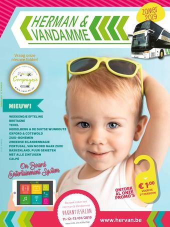 Herman & Vandamme Busreizen reclame folder (geldig t/m 31-08)