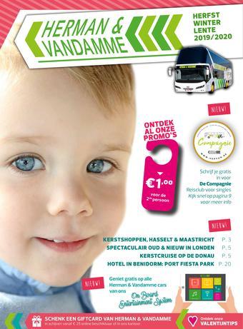 Herman & Vandamme Busreizen reclame folder (geldig t/m 31-12)