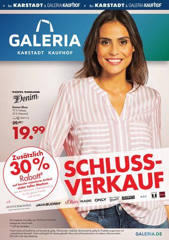 Galeria Karstadt Kaufhof Prospekt (bis einschl. 21-07)