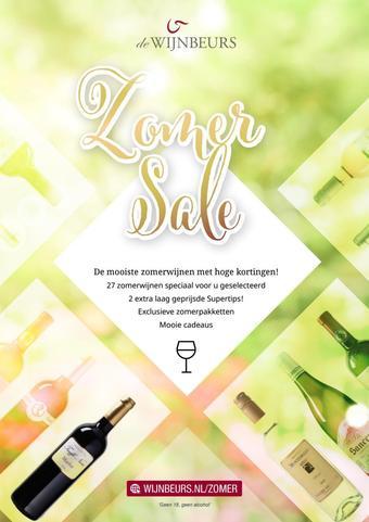 De Wijnbeurs reclame folder (geldig t/m 24-06)