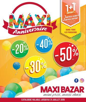 Maxi Bazar catalogue publicitaire (valable jusqu'au 31-07)