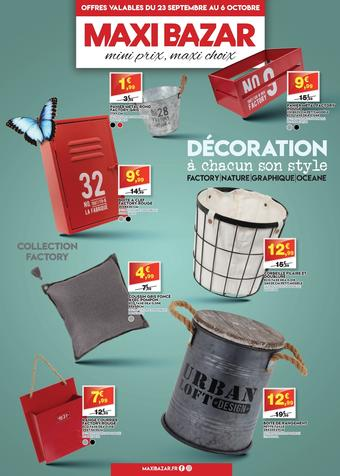 Maxi Bazar catalogue publicitaire (valable jusqu'au 06-10)
