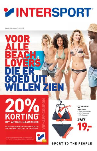 Intersport reclame folder (geldig t/m 25-08)