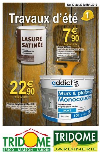 Tridôme catalogue publicitaire (valable jusqu'au 27-07)