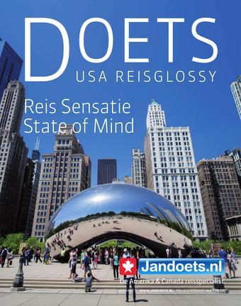 Jan Doets America Tours reclame folder (geldig t/m 31-08)