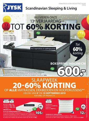 Jysk reclame folder (geldig t/m 22-09)
