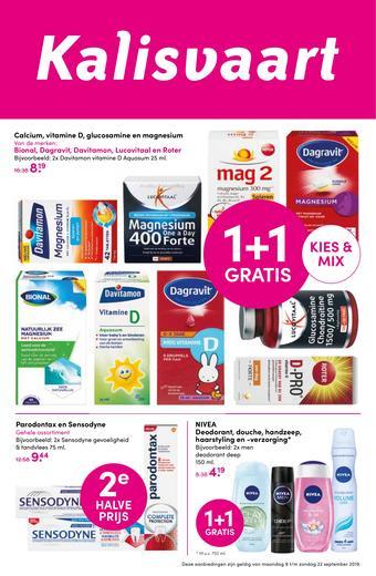 Kalisvaart Drogisterij Beautystore reclame folder (geldig t/m 22-09)