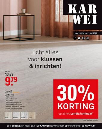 Karwei reclame folder (geldig t/m 21-07)