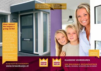 Kroon Kozijn reclame folder (geldig t/m 31-12)