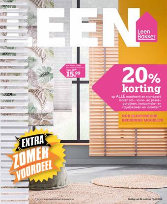 Leen Bakker reclame folder (geldig t/m 07-07)