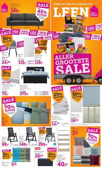 Leen Bakker reclame folder (geldig t/m 11-08)