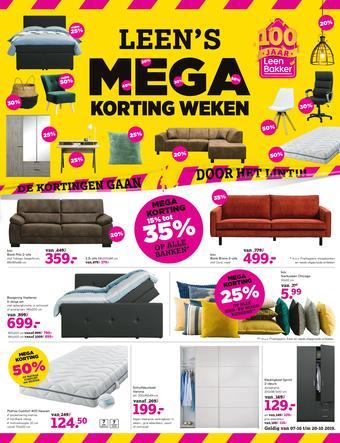 Leen Bakker reclame folder (geldig t/m 20-10)