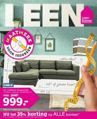 Leen Bakker reclame folder (geldig t/m 03-11)