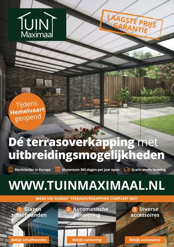 Tuinmaximaal reclame folder (geldig t/m 31-05)