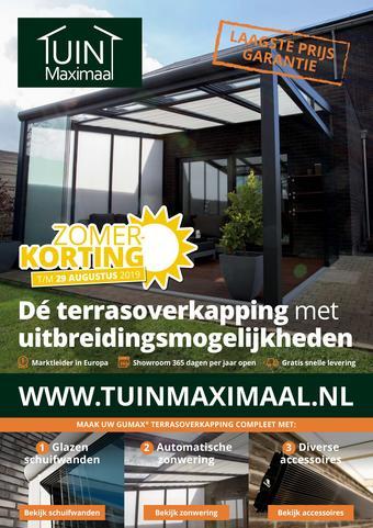 Tuinmaximaal reclame folder (geldig t/m 29-08)