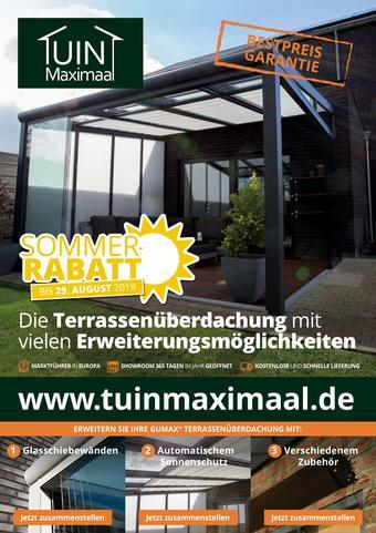 Tuinmaximaal Prospekt (bis einschl. 29-08)