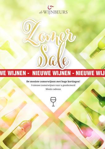 Wijnbeurs reclame folder (geldig t/m 30-06)