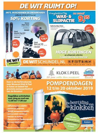 De Wit Schijndel reclame folder (geldig t/m 20-10)