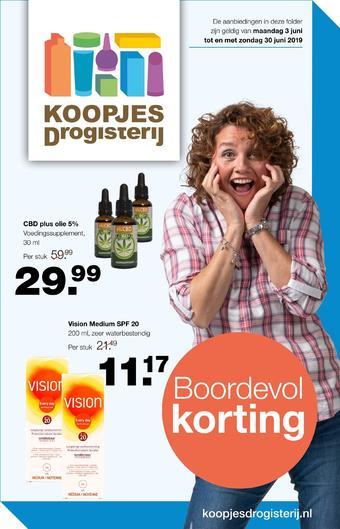 Koopjes Drogisterij reclame folder (geldig t/m 30-06)